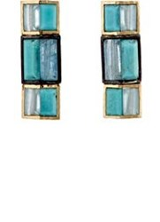 Nak Armstrong Women's Mosaic Rectangular Studs Colorless