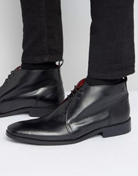 Base London Devon Leather Chukka Boots Black