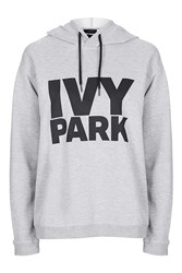 Oversized Logo Hoodie By Ivy Park Light Grey M