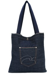 Societe Anonyme Denim Selvage Pocket Tote Unisex Cotton One Size Blue