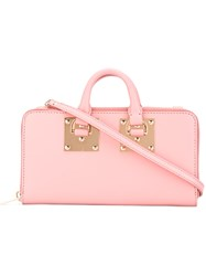 Sophie Hulme Continental Wallet Crossbody Bag Women Calf Leather One Size Pink Purple