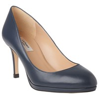 Lk Bennett L.K. Sybila Platform Court Shoes Navy Leather