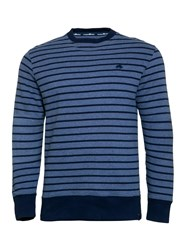 Raging Bull Men's Stripe Crew Sweater Blue