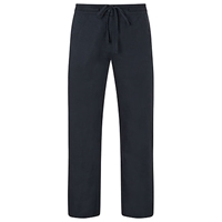 John Lewis Wide Leg Drawstring Linen Trousers Navy