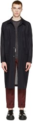 Acne Studios Navy Wool Voile Mauro Coat