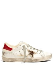 Golden Goose Superstar Shearling Lined Leather Trainers White Multi