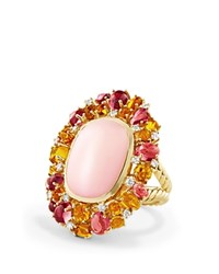 David Yurman Mustique Statement Ring With Pink Opal Citrine Pink Tourmaline And Diamonds In 18K Yellow Gold Pink Gold