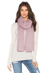 Hat Attack Rib Scarf Purple