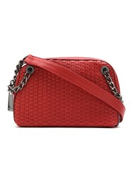 Mara Mac Leather Shoulder Bag Red