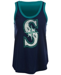 G3 Sports Women's Seattle Mariners Power Play Tank Navy Teal