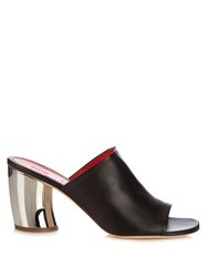 Proenza Schouler Leather Block Heel Sandals Black