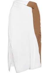 Reed Krakoff Stretch Crepe And Matte Satin Skirt