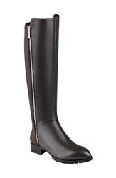 Nine West Women's 'Legretto' Riding Boot Dark Grey Leather