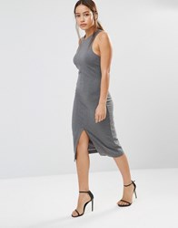 Finders Keepers Hideaway Midi Dress Charcoal Grey