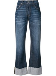 Department 5 Faded Cropped Jeans Blue
