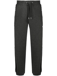 Emporio Armani Tapered Track Pants Grey