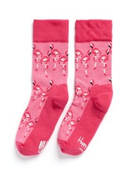 Happy Socks X Bbc Flamingo Athletic Pink
