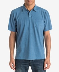 Quiksilver Waterman Men's Textured Stripe Polo Classic Fit Wave