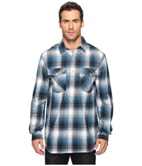 Carhartt Trumball Snap Front Plaid Shirt Stream Blue Men's Long Sleeve Button Up