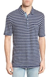 True Grit Men's Indigo Stripe Polo