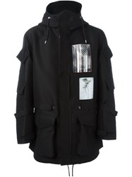 Givenchy Patch Print Parka Black