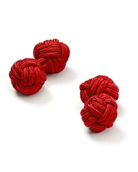 The Men's Store At Bloomingdale's Round Knot Cufflinks Red