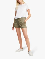 French Connection Ismena High Waisted Shorts Silver Green