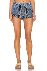 Gypsy 05 Printed Fringe Short Blue