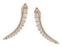 Kendra Scott Whit Climber Earrings Rose Gold Metal With White Cz Earring