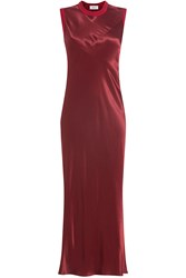 Dkny Satin Dress Red