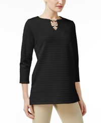 Jm Collection Ribbed Hardware Tunic Only At Macy's Deep Black