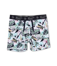 Original Penguin Fashion Boxer Brief Pink Snapshots Men's Underwear Multi