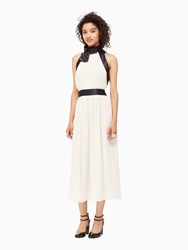 Kate Spade Chiffon Bow Dress Light Shale