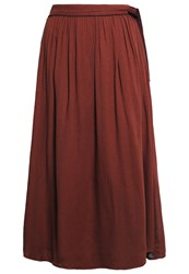 Maxandco. Dinamico Maxi Skirt Rust Mottled Orange