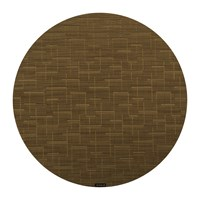 Chilewich Bamboo Round Placemat Amber