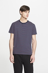 Marc By Marc Jacobs Stripe Cotton Jersey T Shirt Deep Indigo Multi