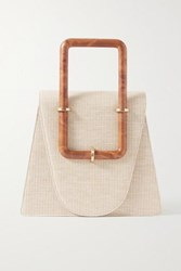 Cult Gaia Bibi Canvas Tote Cream
