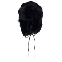Eugenia Kim Fur Owen Trapper Hat Black