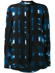 Alexander Mcqueen Long Sleeve Printed Shirt Blue