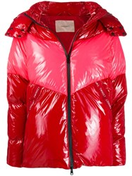 Twin Set Zip Up Puffer Jacket Red
