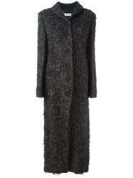 Romeo Gigli Vintage Long Shaggy Coat Grey