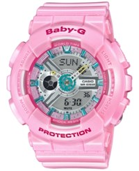 G Shock Baby G Women's Analog Digital Pink Strap Watch 46X43mm Ba110ca 4A