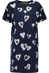 Etre Cecile Printed Cotton Jersey Mini Dress Navy