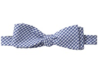 Cufflinks Inc. Gingham Cotton Bow Tie Blue Ties