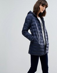 Jdy Mash Tube Quilted Hooded Jacket Sky Captain Blue