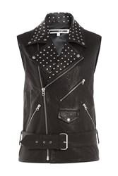 Mcq By Alexander Mcqueen Mcq Alexander Mcqueen Embellished Leather Vest Black