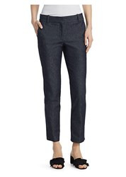 Theory Straight Denim Trousers Navy