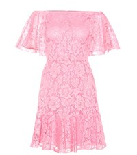 Valentino Lace Off The Shoulder Dress Pink