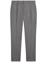 Jaeger Sharkskin Wool Modern Fit Suit Trousers Grey