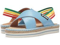 Love Moschino Rainbow Strap Sandal Blue Women's Sandals